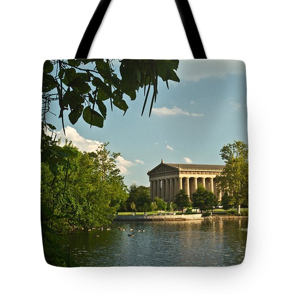 Parthenon at Nashville Tennessee 10 Tote Bag by Douglas Barnett