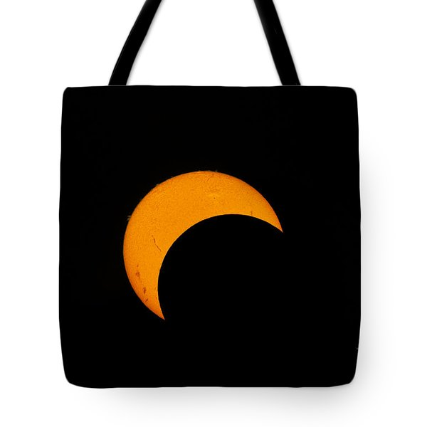 Partial Solar Eclipse Of 2012 Tote Bag by Phillip Jones