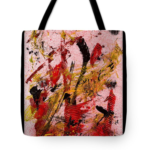 Party At The Hockey Match - White Tote Bag by Manuel Sueess