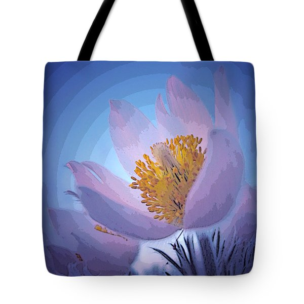 Pasque Flower Tote Bag by Vivian Christopher