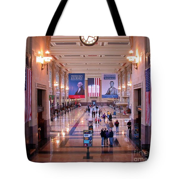 Passengers And Flags Tote Bag by Tim Mulina