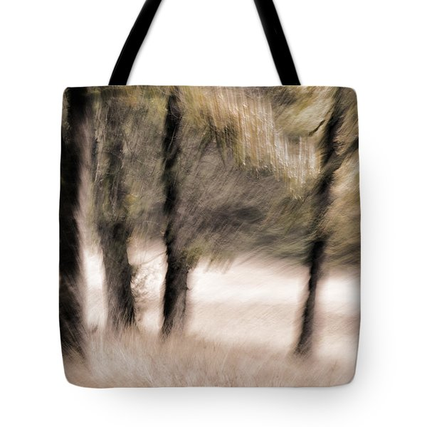 Passing By Trees Tote Bag by Carol Leigh