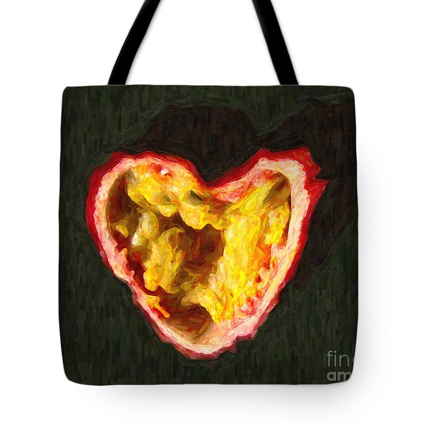 Passion Fruit Tote Bag by Wingsdomain Art and Photography