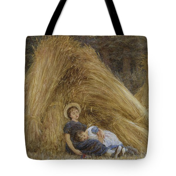 Past Work Tote Bag by Helen Allingham