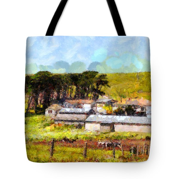Pastoral Cattle Ranch Landscape  . 7d16047 Tote Bag by Wingsdomain Art and Photography