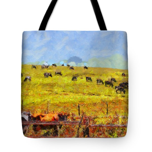 Pastoral Landscape Painterly . 7d15962 Tote Bag by Wingsdomain Art and Photography