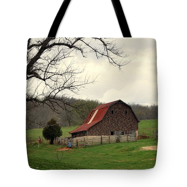 Pasture And Bar  Tote Bag by Marty Koch