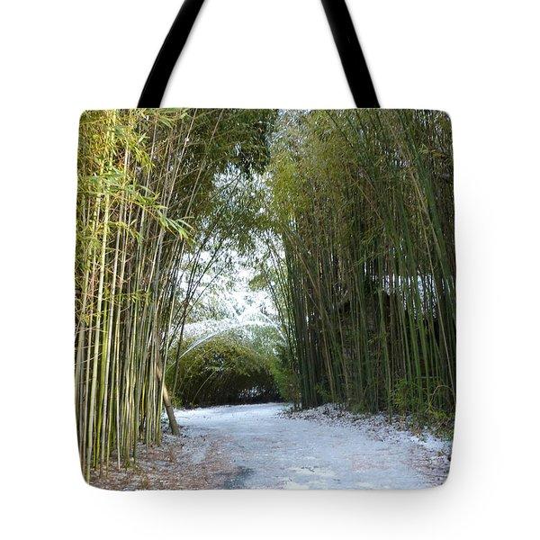 Path In Bamboo Field Tote Bag by Renee Trenholm