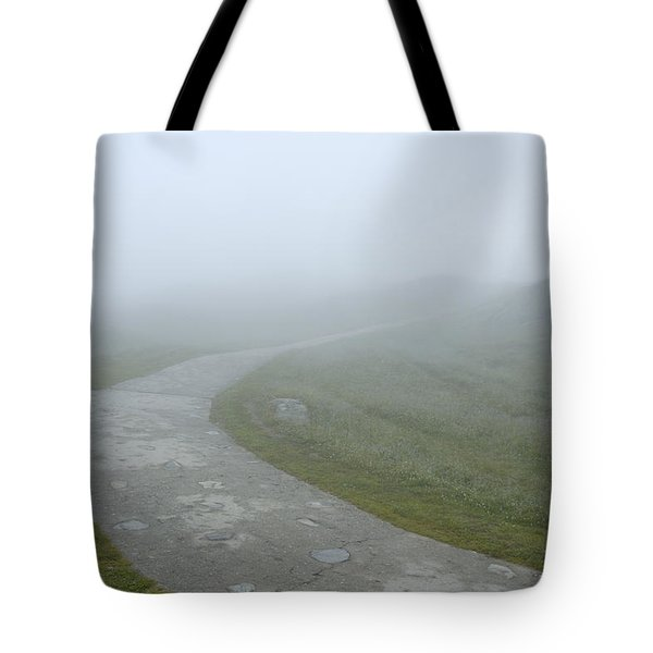 Path In The Fog Tote Bag by Matthias Hauser