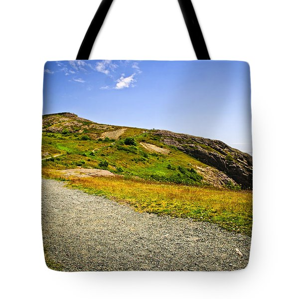 Path to Cabot Tower on Signal Hill Tote Bag by Elena Elisseeva