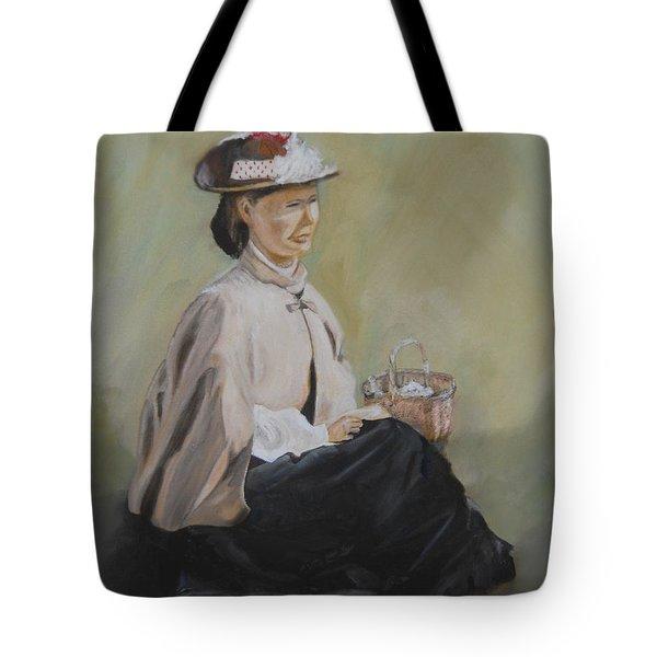 Patiently Waiting Tote Bag by Joyce Reid
