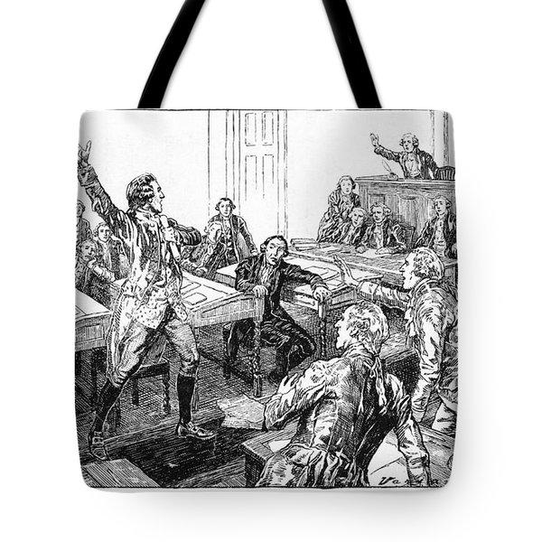 Patrick Henry, Virginia Legislature Tote Bag by Photo Researchers
