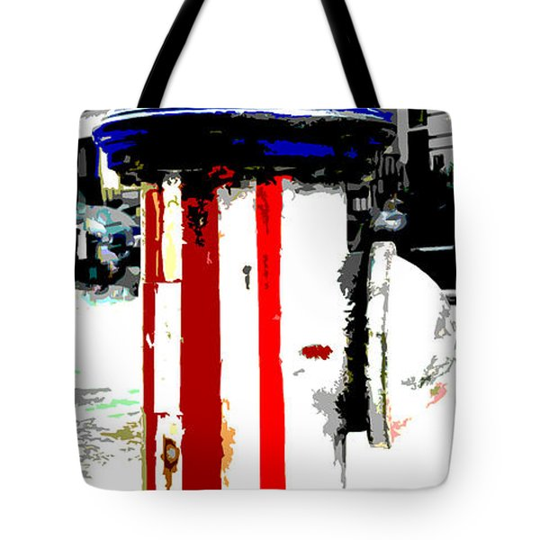 Patriotic Fire Hydrant Tote Bag by Anahi DeCanio