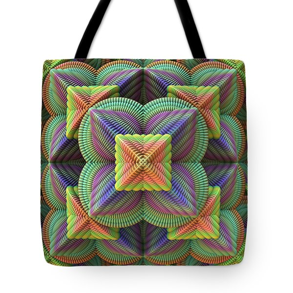 Pattern Pyramid Tote Bag by Lyle Hatch