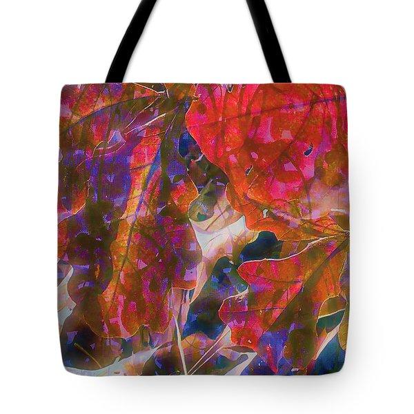 Patterns In Scarlet Tote Bag by Judi Bagwell