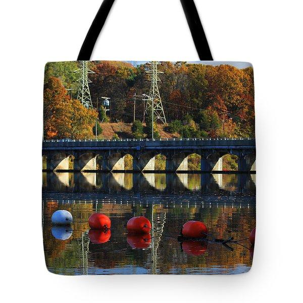 Patterns Of Reflection Tote Bag by Karol  Livote