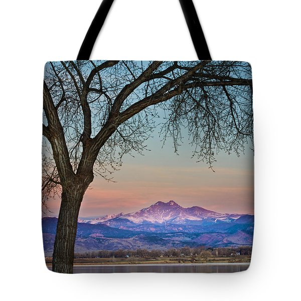 Peaceful Early Morning Sunrise Longs Peak View Tote Bag by James BO  Insogna