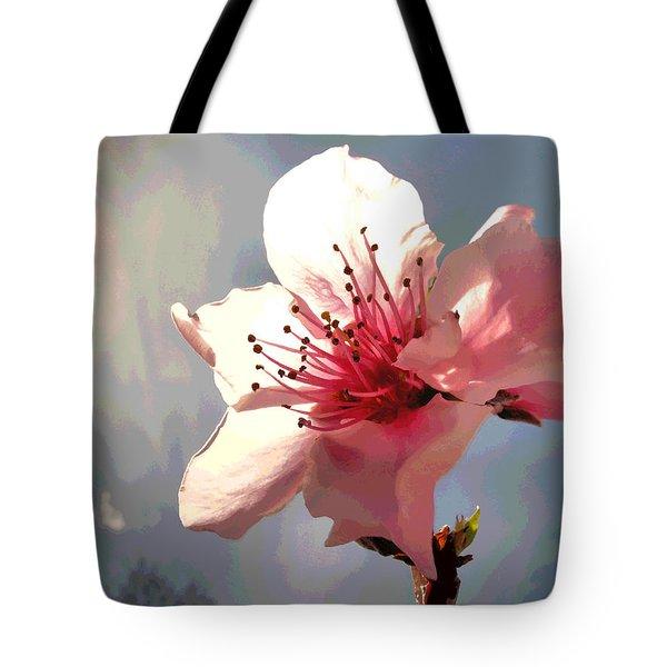 Peach Blossom Macro 2 Tote Bag by Joyce Dickens