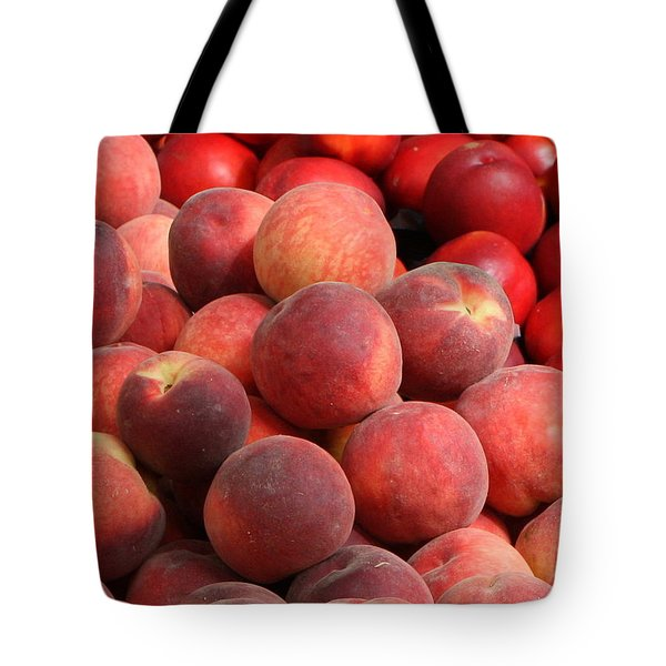 Peaches And Nectarines Tote Bag by Carol Groenen