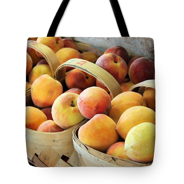 Peaches Tote Bag by Kristin Elmquist