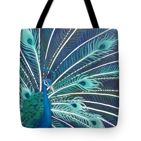 Peacock Tote Bag by Estephy Sabin Figueroa