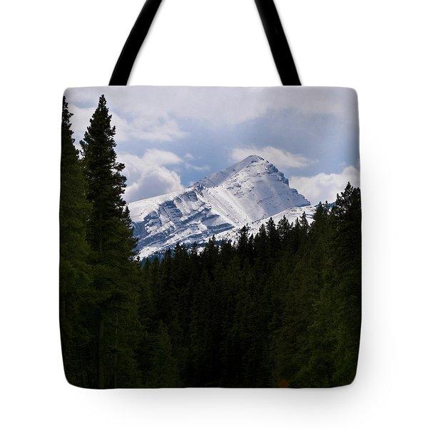 Peaking Peak Tote Bag by Roderick Bley