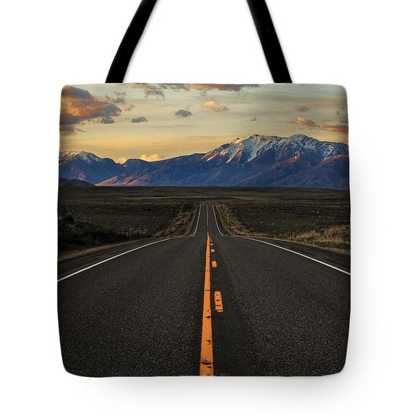 Peaks to Craters Highway Tote Bag by Benjamin Yeager
