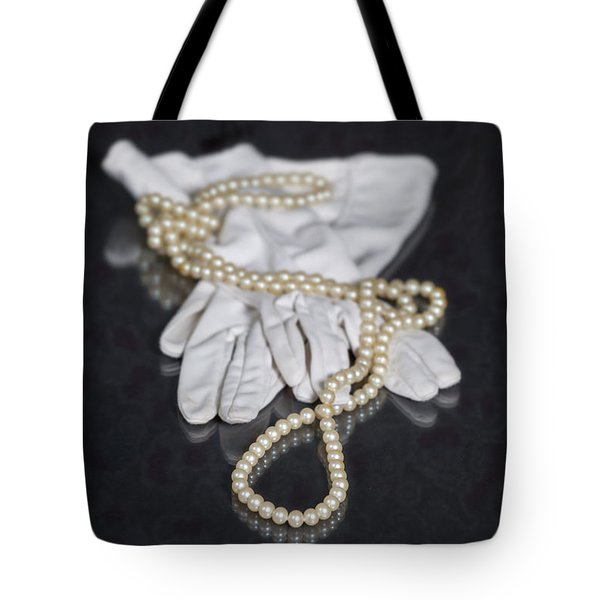 Pearls And Gloves Tote Bag by Joana Kruse