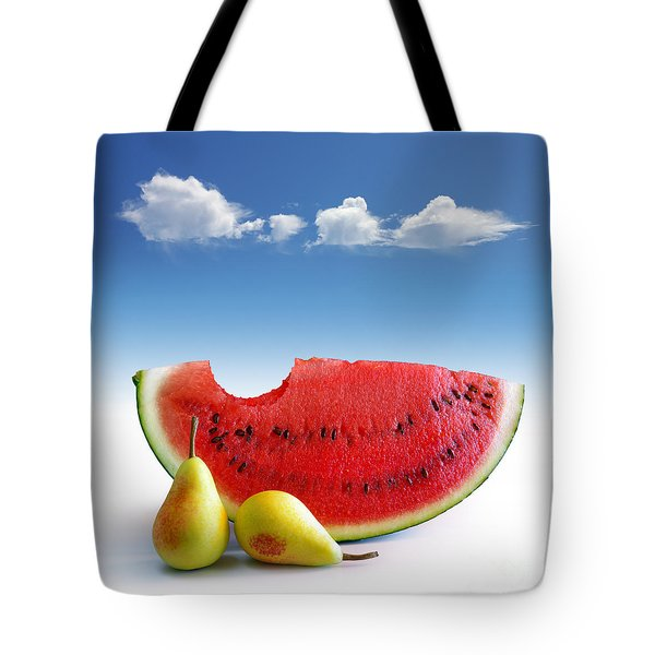 Pears and Melon Tote Bag by Carlos Caetano
