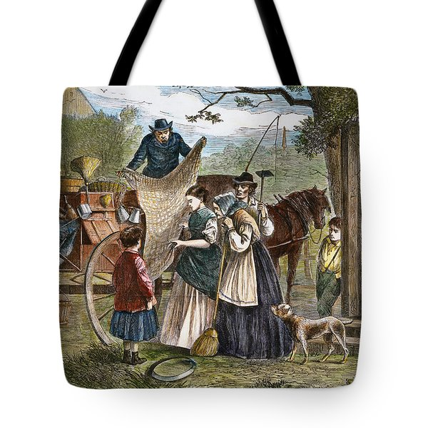 Peddlers Wagon, 1868 Tote Bag by Granger