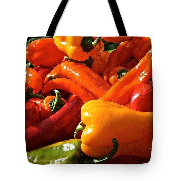 Pepper Palooza Tote Bag by Susan Herber
