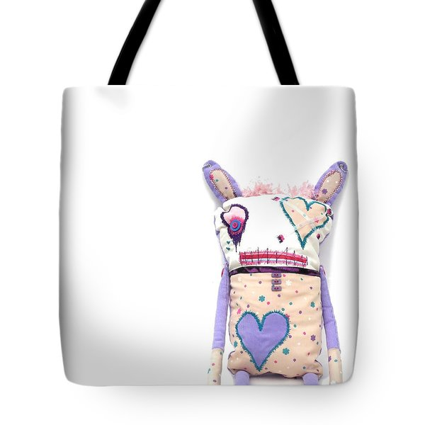 Percry Of The Cutie Patootie Zombie Bunny Twins Tote Bag by Oddball Art Co by Lizzy Love