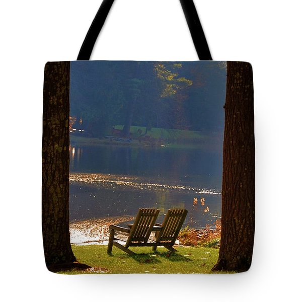 Perfect Morning Place Tote Bag by Bill Cannon