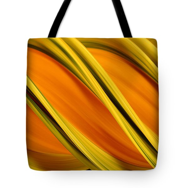 Peripheral Streak Image Of Squash Tote Bag by Ted Kinsman