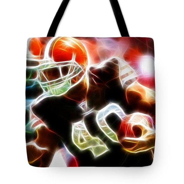 Peyton Hillis Magical Tote Bag by Paul Van Scott