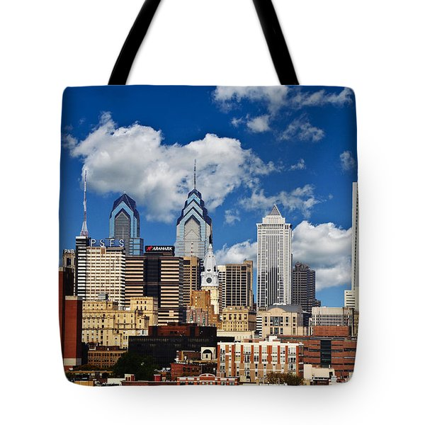 Philadelphia Blue Skies Tote Bag by Bill Cannon