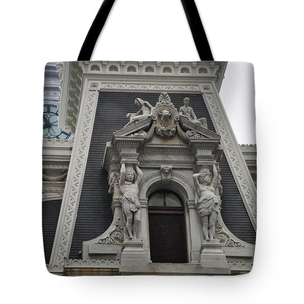 Philadelphia City Hall Window Tote Bag by Bill Cannon