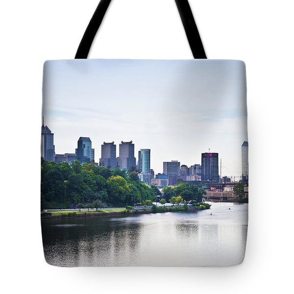 Philadelphia View From The Girard Avenue Bridge Tote Bag by Bill Cannon