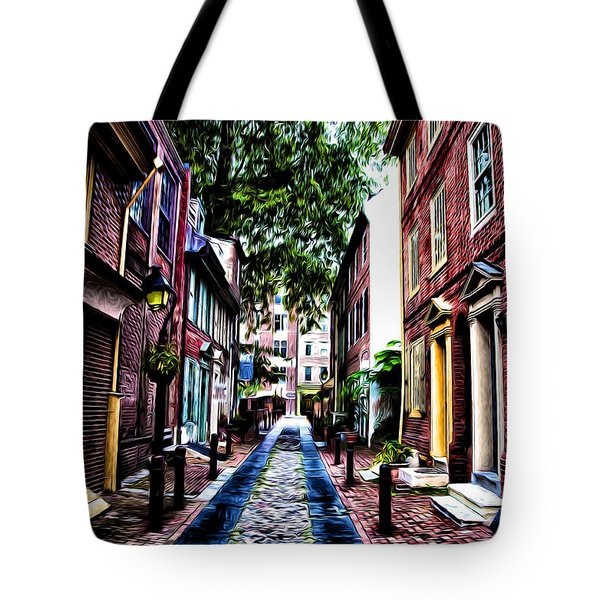 Philadelphia's Elfreth's Alley Tote Bag by Bill Cannon