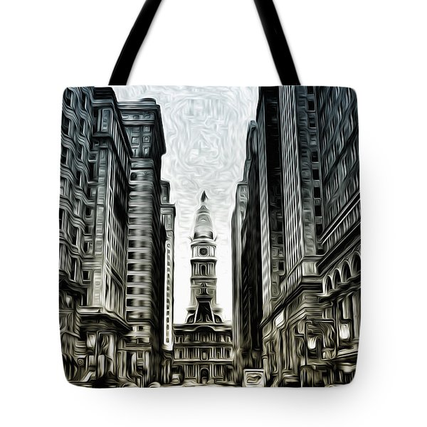 Philly - Broad Street Tote Bag by Bill Cannon