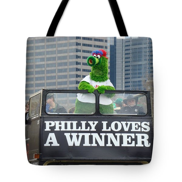 Philly Loves A Winner Tote Bag by Alice Gipson