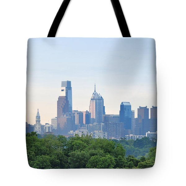 Philly Skyline Tote Bag by Bill Cannon