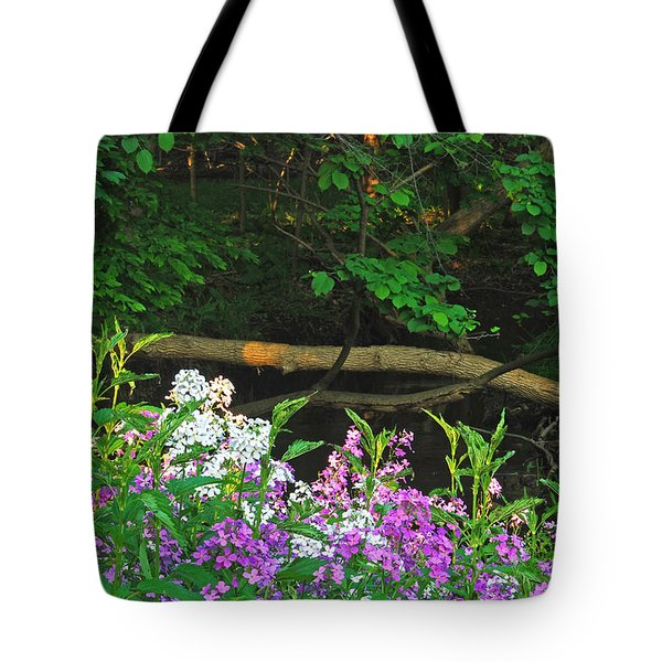 Phlox Along The Creek 7185 Tote Bag by Michael Peychich