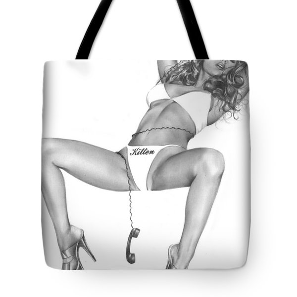 Phone Sex Tote Bag by Pete Tapang