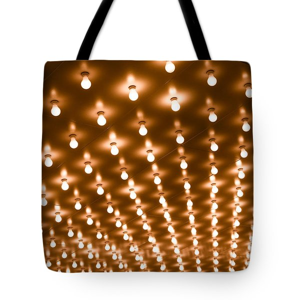 Photo of Theater Marquee Lights Tote Bag by Paul Velgos