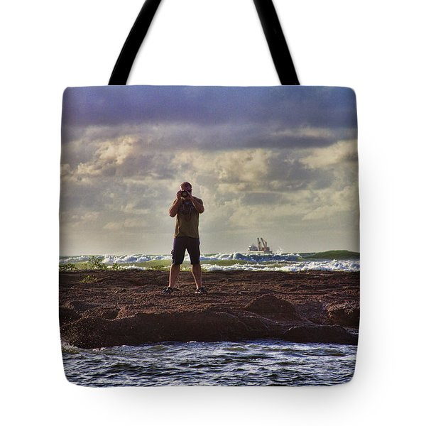 Photographing Seaside Life Tote Bag by Douglas Barnard