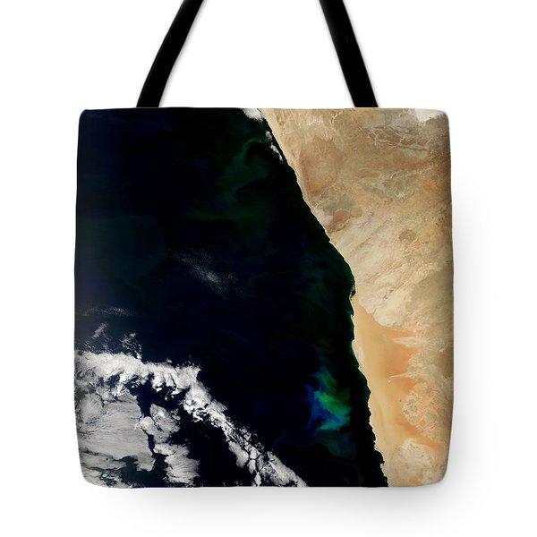 Phytoplankton Bloom Off Nambia Tote Bag by NASA