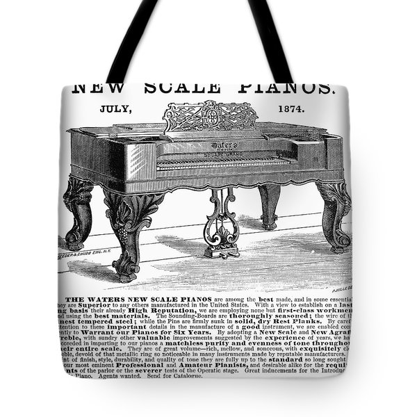 Piano Advertisement, 1874 Tote Bag by Granger