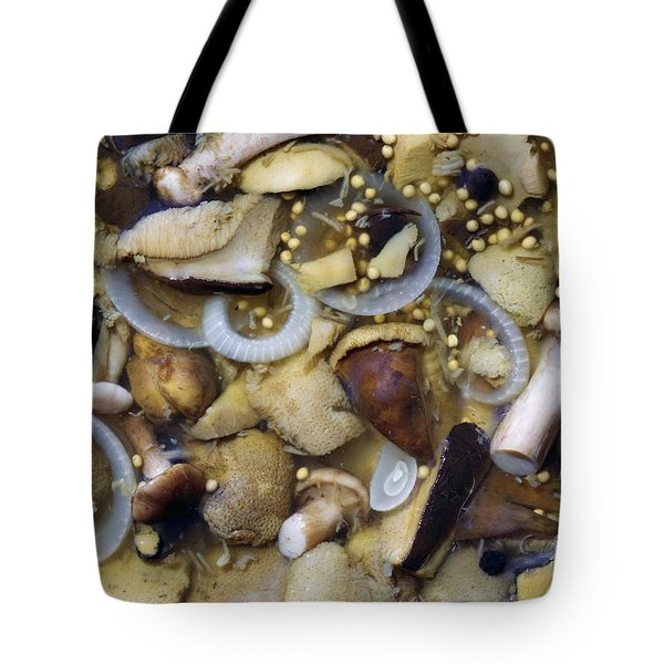 pickled mushrooms Tote Bag by Michal Boubin