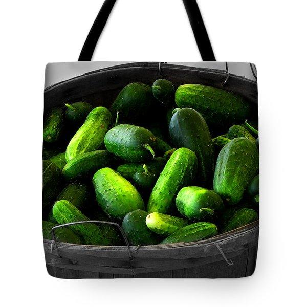 Pickling Cucumbers Tote Bag by Ms Judi